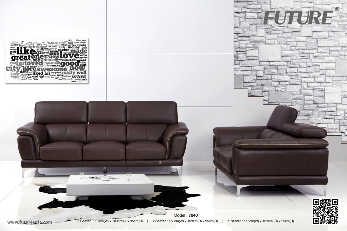 SOFA BĂNG DA BÒ - FUTURE MODEL 7040