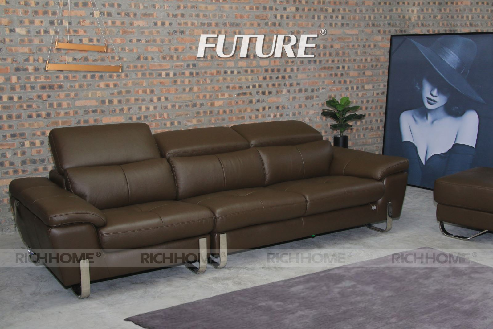 SOFA BĂNG DA BÒ - FUTURE MODEL 7054 (1+2+3)