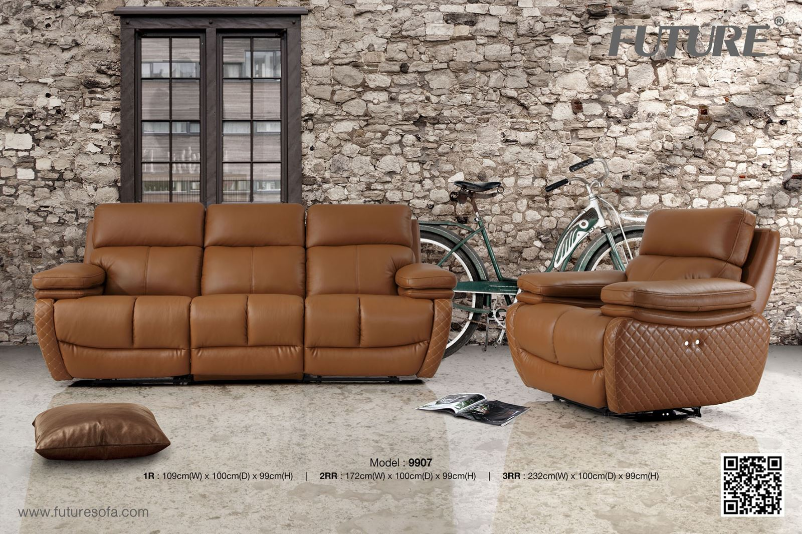 SOFA BĂNG DA BÒ - FUTURE MODEL 9907