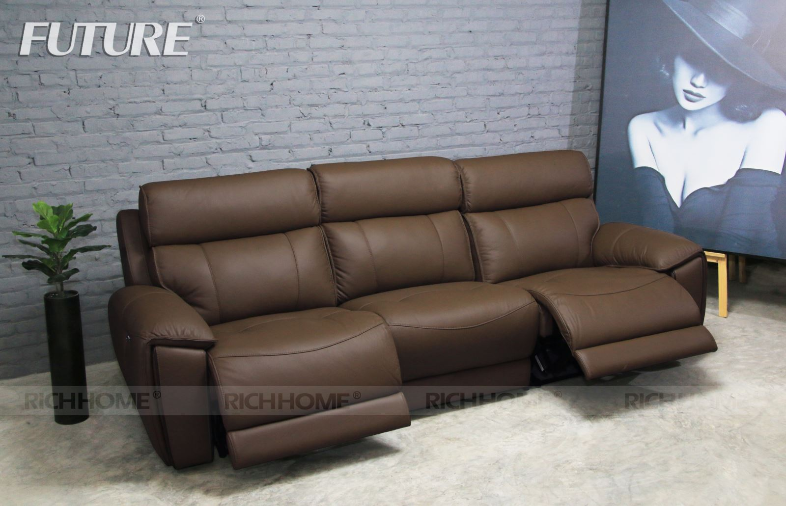 SOFA BĂNG DA BÒ - FUTURE MODEL 9919 (1+2+3)