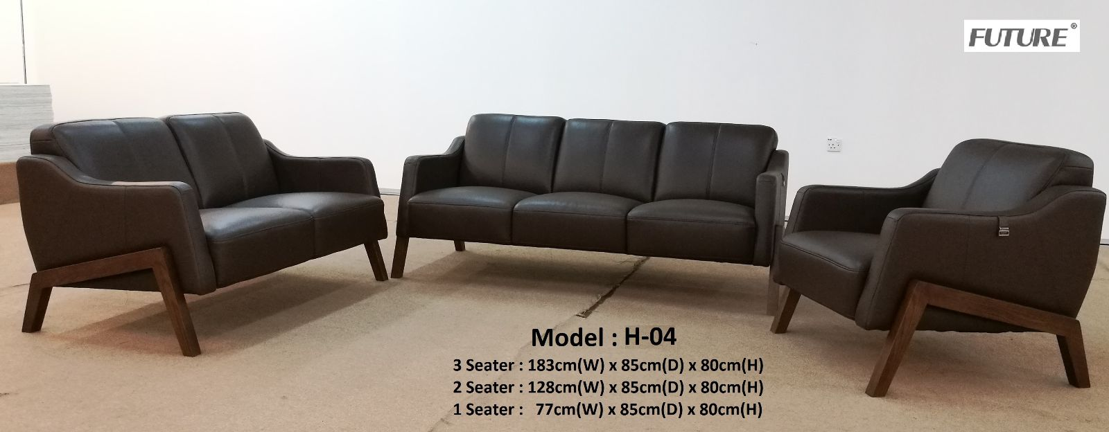 SOFA BĂNG DA BÒ - FUTURE MODEL H-04