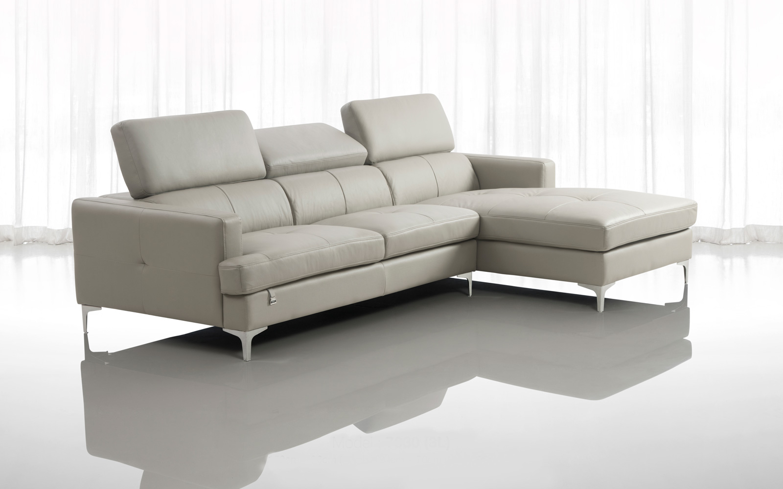 SOFA DA BÒ CHỮ L - FUTURE MODEL 7030 (3L)