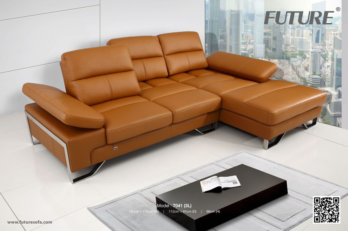 SOFA DA BÒ - FUTURE MODEL 7041 (3L) CHỮ L