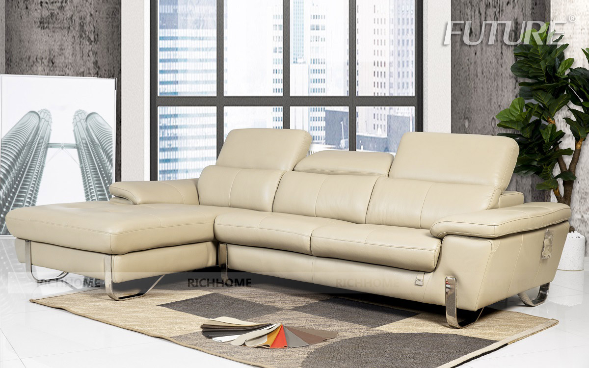SOFA DA BÒ - FUTURE MODEL 7054 (3L) CHỮ L