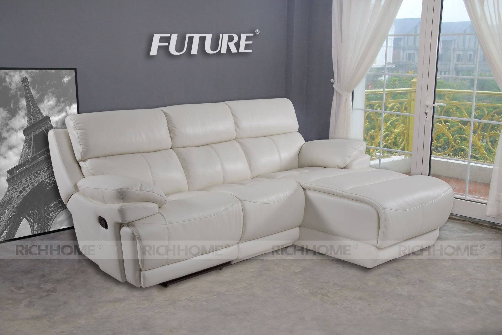 Sofa da Future Model 9903 (3L) - Có 12 màu sắc tùy chọn