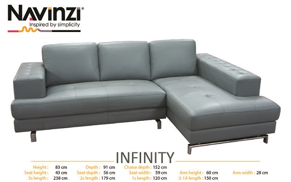 SOFA DA NAVINZI MODEL INFINITY