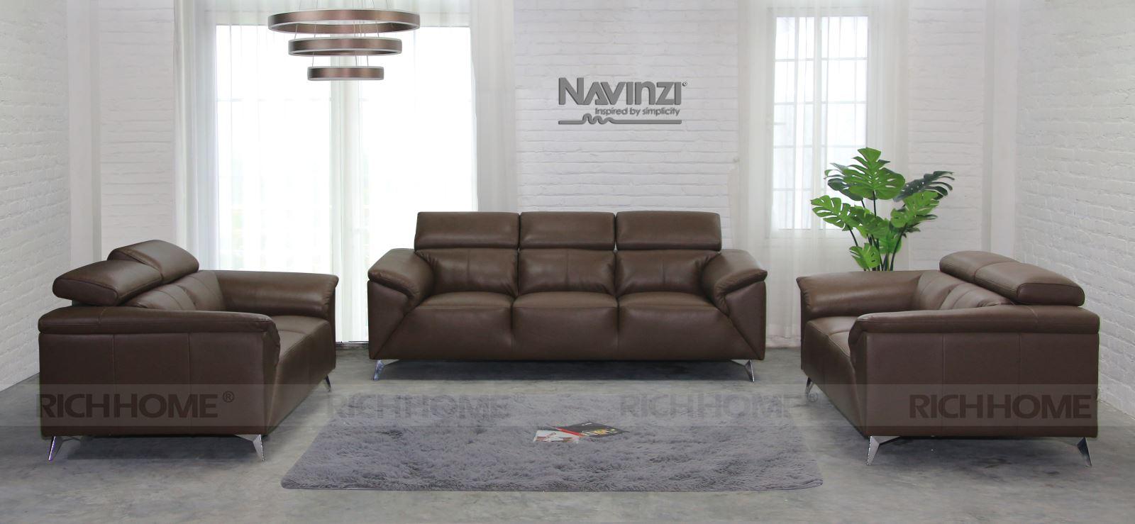 Sofa băng da Navinzi Magic kiểu 2+2+3 - Có 20 màu sắc tùy chọn