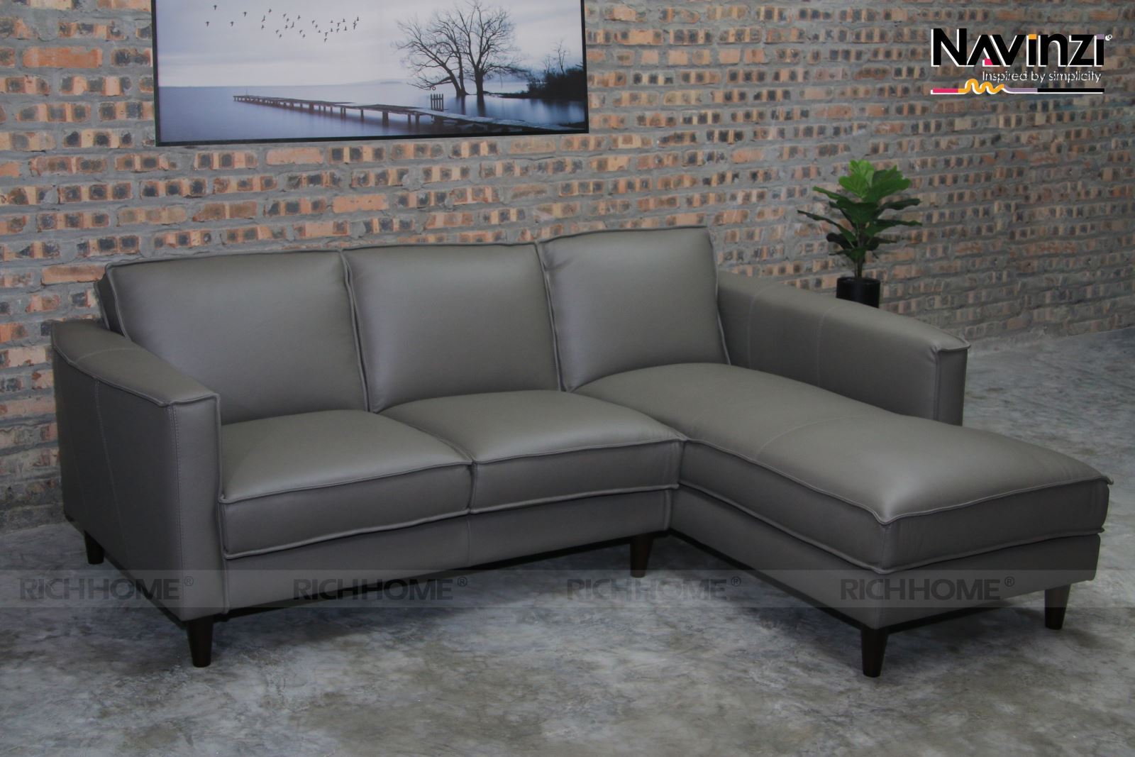Sofa da Navinzi Max - Có 20 màu sắc tùy chọn